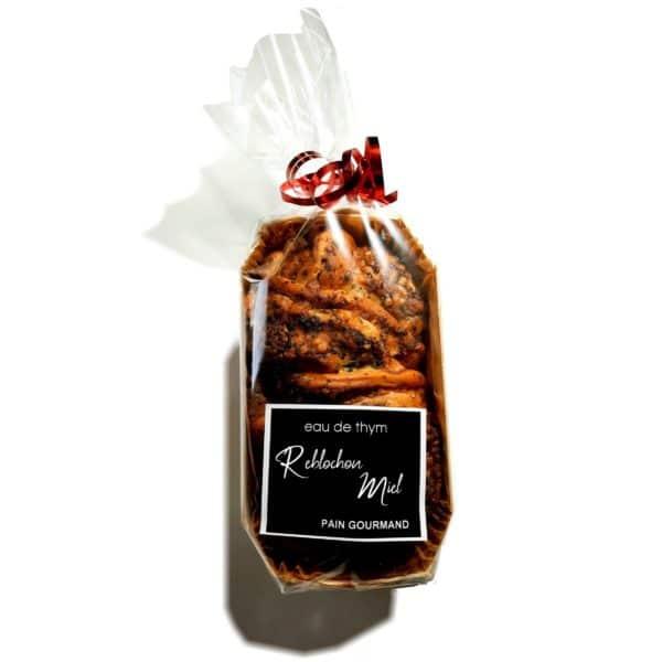 Pain gourmand reblochon et miel - Eau de thym, traiteur réception Montpellier 1
